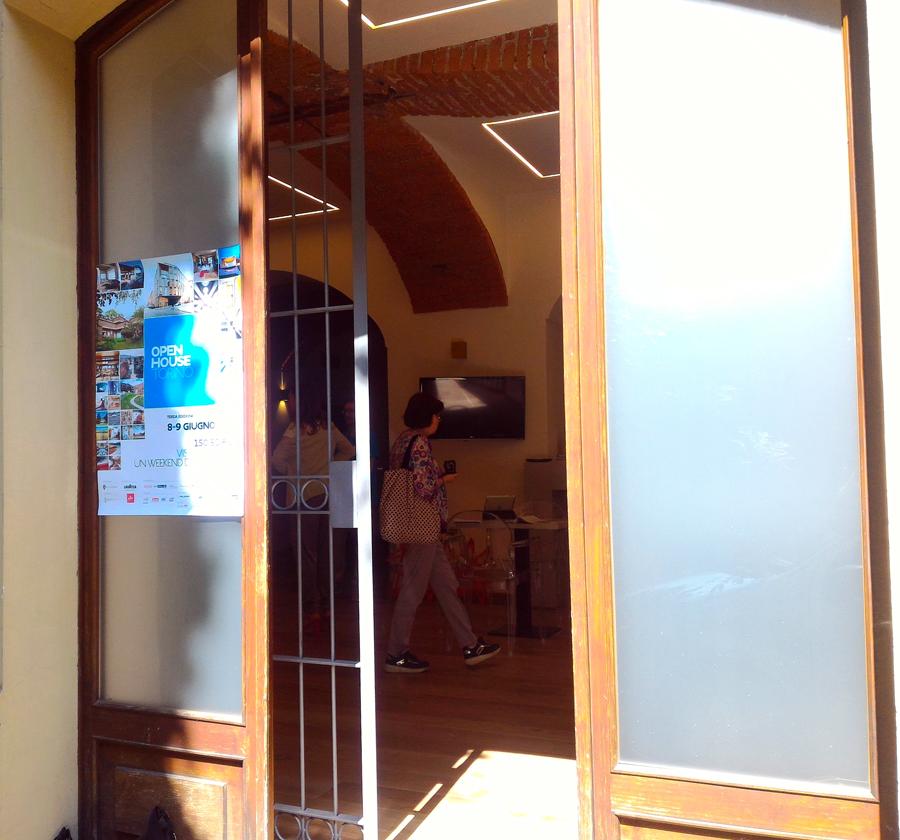 Ingresso del loft durante Open House 2019